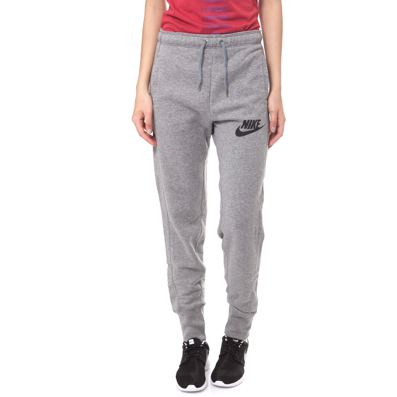 NIKE - Γυναικείο παντελόνι φόρμας NIKE RALLY PANT γκρι μελανζέ γυναικεία ρούχα αθλητικά φόρμες