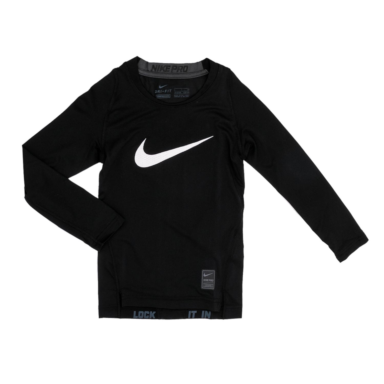 NIKE – Παιδική μακρυμάνικη μπλούζα Nike HBR COMP LS YTH μαύρη