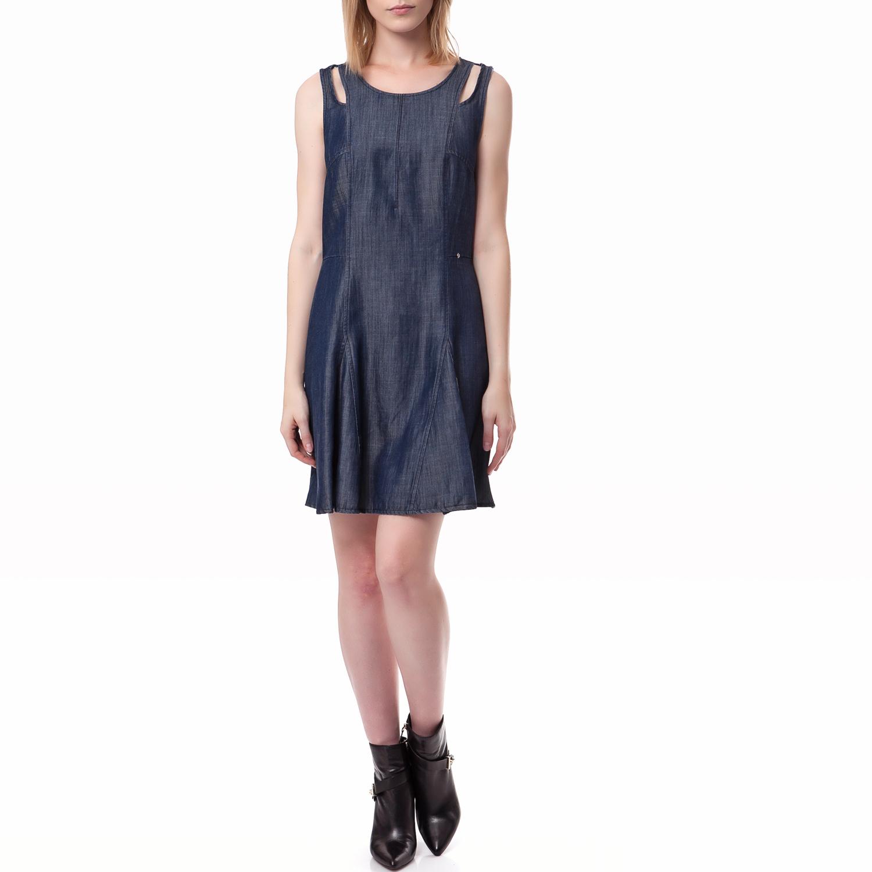 GAS - Γυναικείο φόρεμα Gas μπλε γυναικεία ρούχα φορέματα μίνι