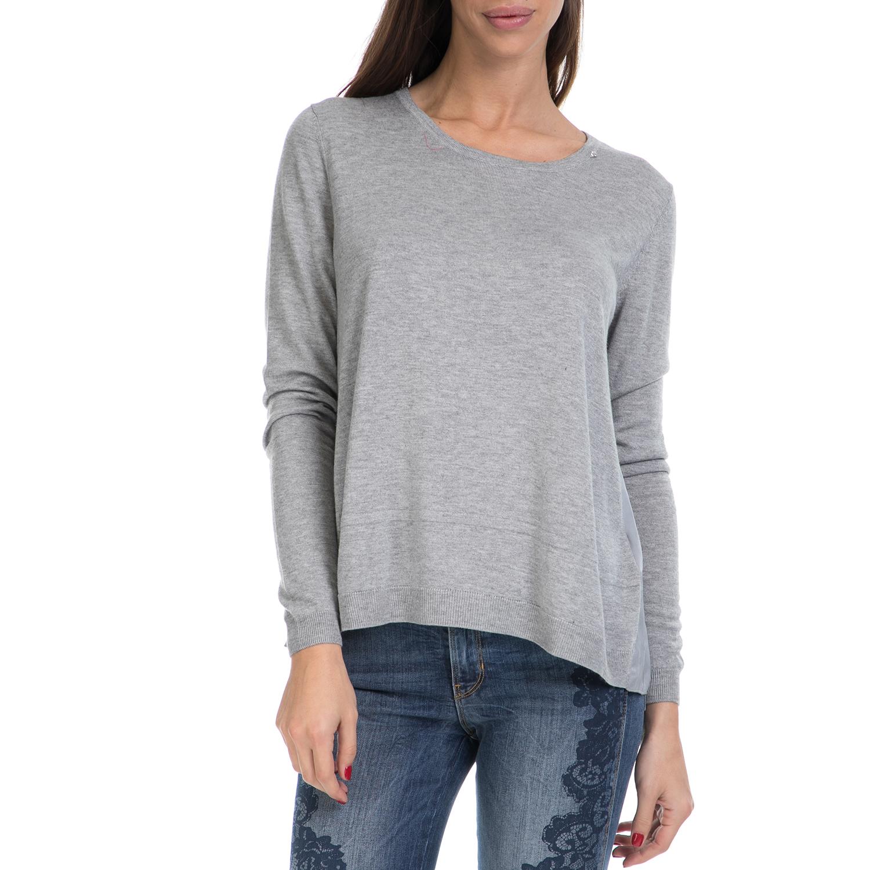 Γυναικεία   Ρούχα   Πλεκτά   Πουλόβερ   GAS - Γυναικείο πουλόβερ ANJA GAS  γκρι - GoldenShopping.gr 34a39902d83