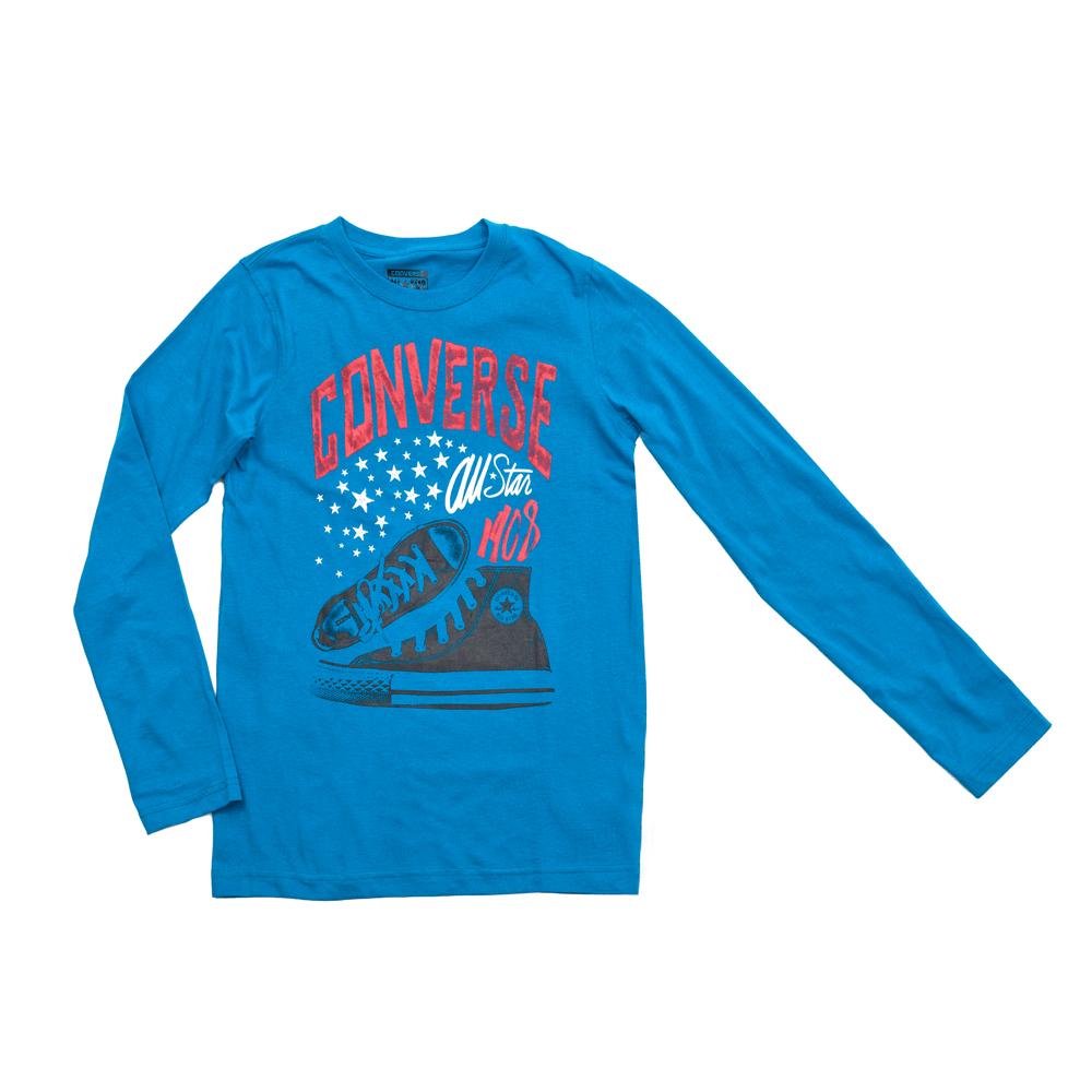 CONVERSE – Παιδική μπλούζα Converse μπλε