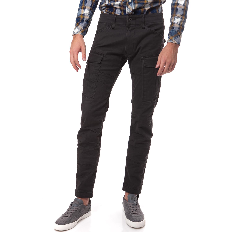 G-STAR RAW - Ανδρικό παντελόνι G-Star Raw ανθρακί-καφέ ανδρικά ρούχα παντελόνια casual