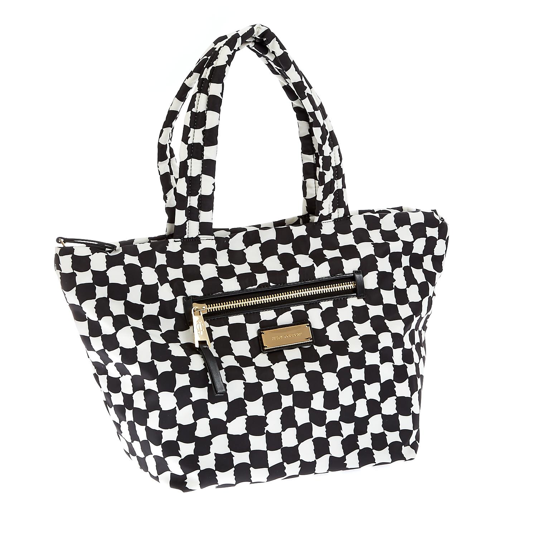 JUICY COUTURE - Γυναικεία τσάντα Juicy Couture μαύρη-λευκή γυναικεία αξεσουάρ τσάντες σακίδια χειρός