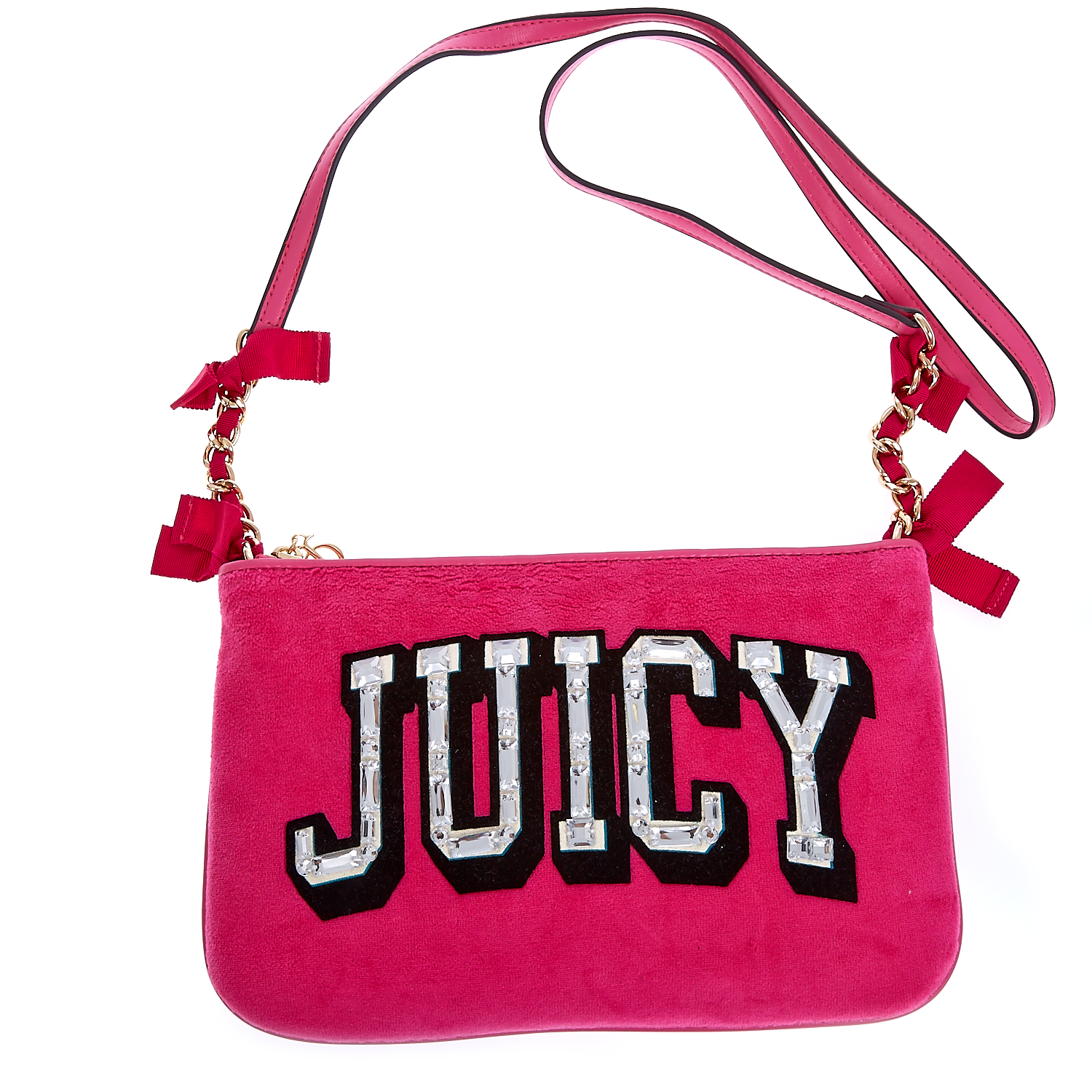 JUICY COUTURE - Τσαντάκι Juicy Couture φούξια γυναικεία αξεσουάρ τσάντες σακίδια ωμου