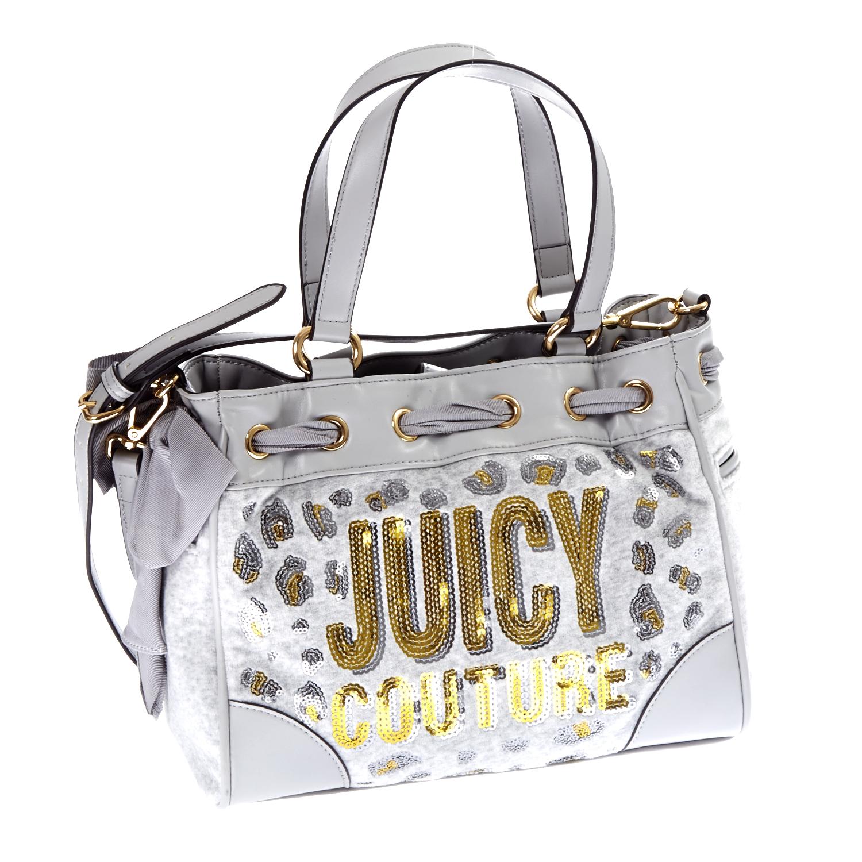 JUICY COUTURE - Γυναικεία τσάντα Juicy Couture γκρι γυναικεία αξεσουάρ τσάντες σακίδια χειρός
