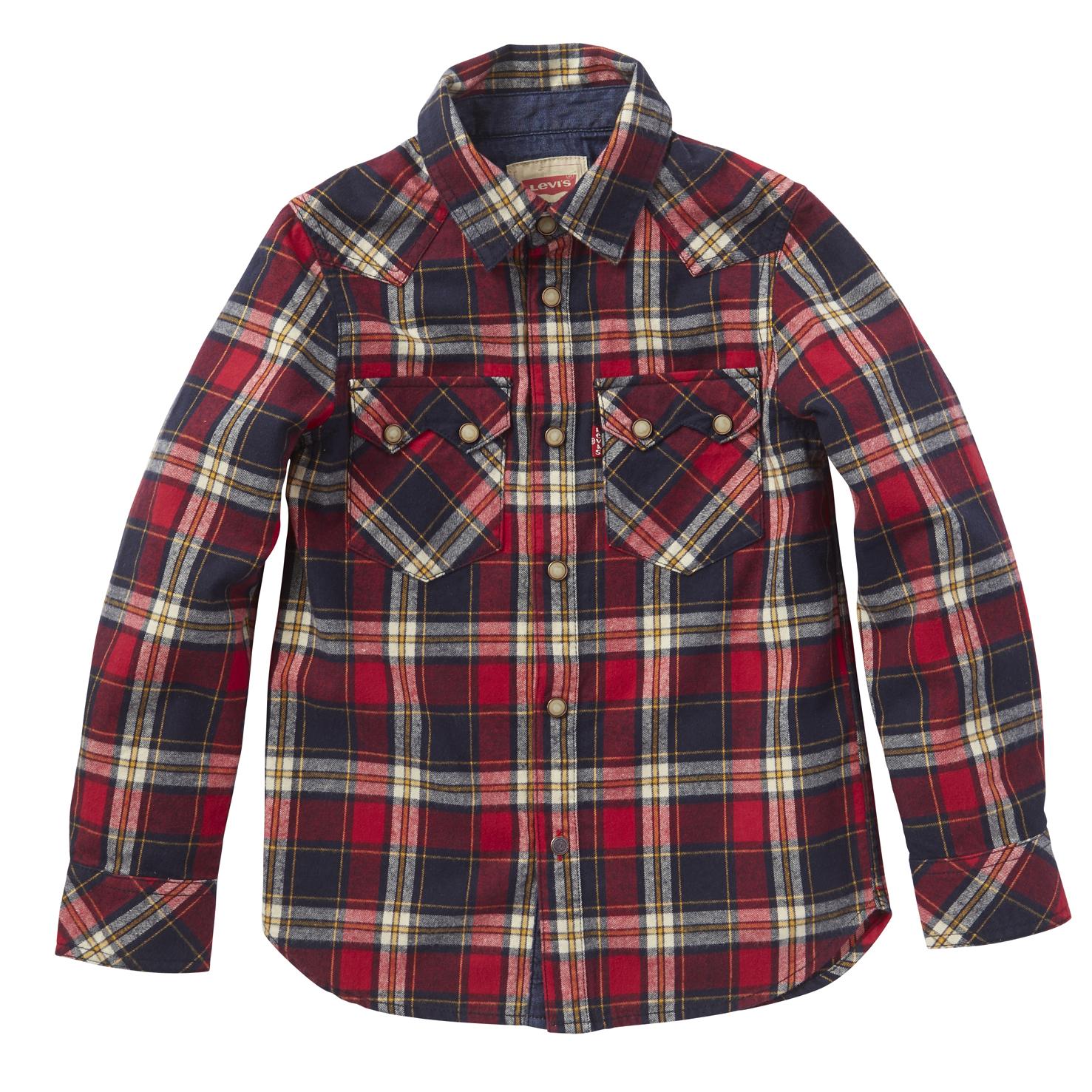 LEVI'S KIDS – Παιδικό πουκάμισο Levi's Kids κόκκινο