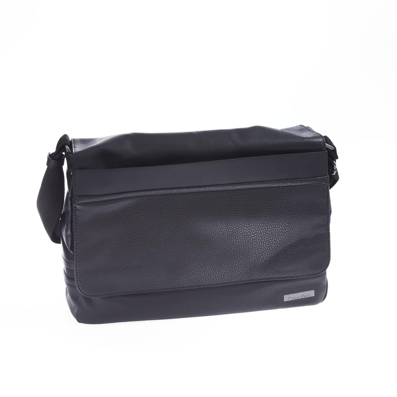 CALVIN KLEIN JEANS - Ανδρική τσάντα Calvin Klein Jeans μαύρη ανδρικά αξεσουάρ τσάντες σακίδια ταχυδρόμου