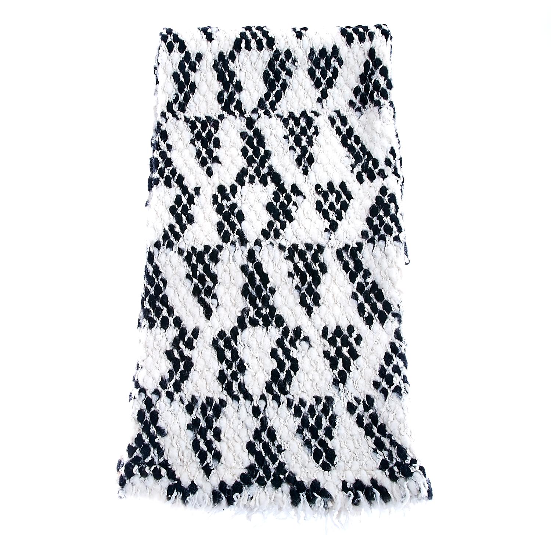 SCOTCH & SODA - Κασκόλ Scotch & Soda λευκό-μαύρο ανδρικά αξεσουάρ φουλάρια κασκόλ γάντια
