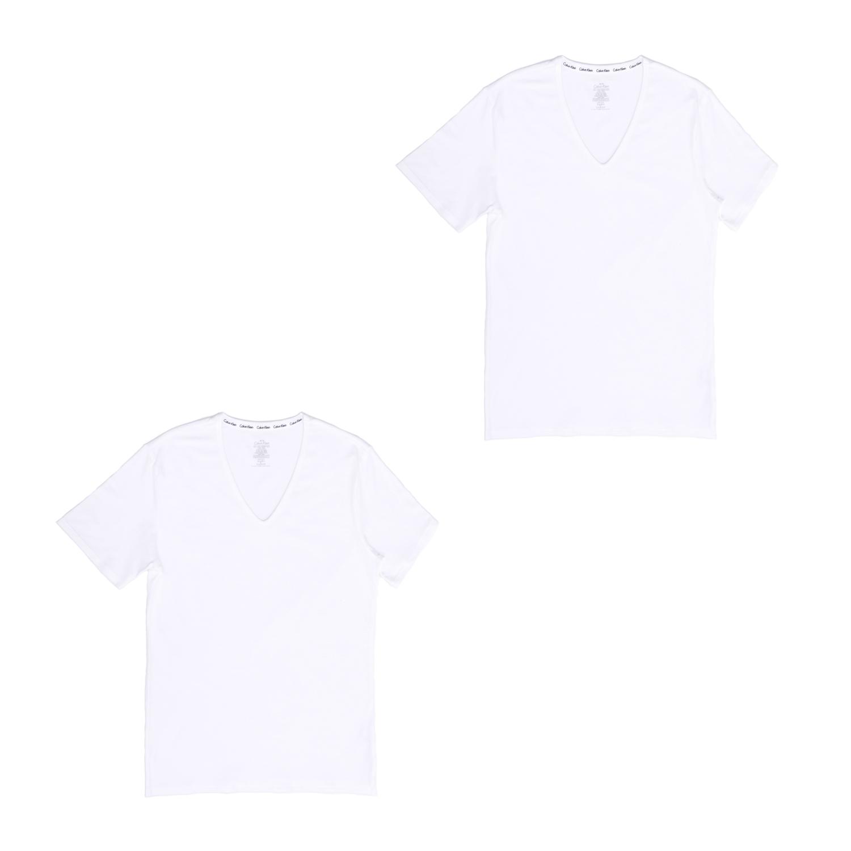 CK UNDERWEAR - Σετ φανέλες CK UNDERWEAR λευκές ανδρικά ρούχα εσώρουχα φανέλες