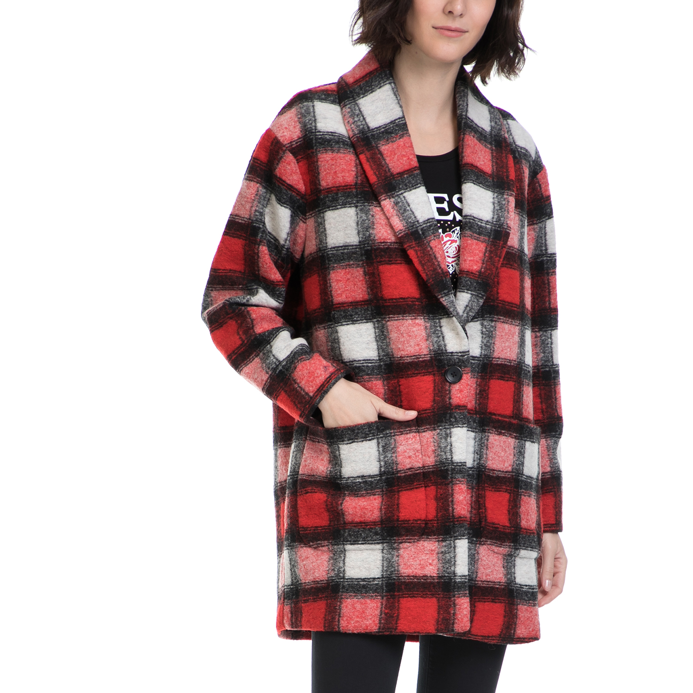 SCOTCH & SODA – Γυναικείο παλτό MAISON SCOTCH κόκκινο-λευκό