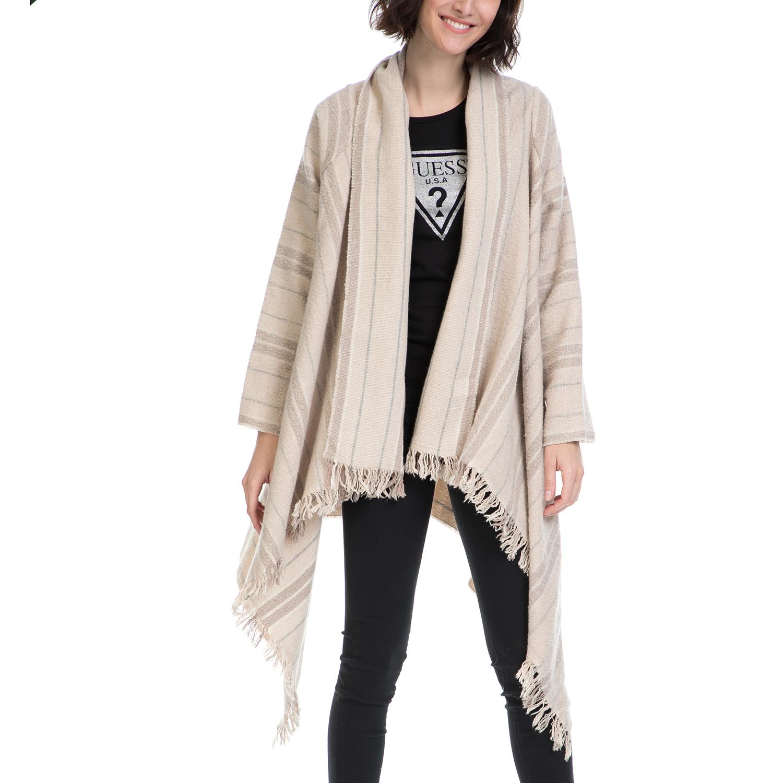 SCOTCH & SODA - Γυναικείο πόντσο MAISON SCOTCH εκρού-μπεζ γυναικεία ρούχα πανωφόρια