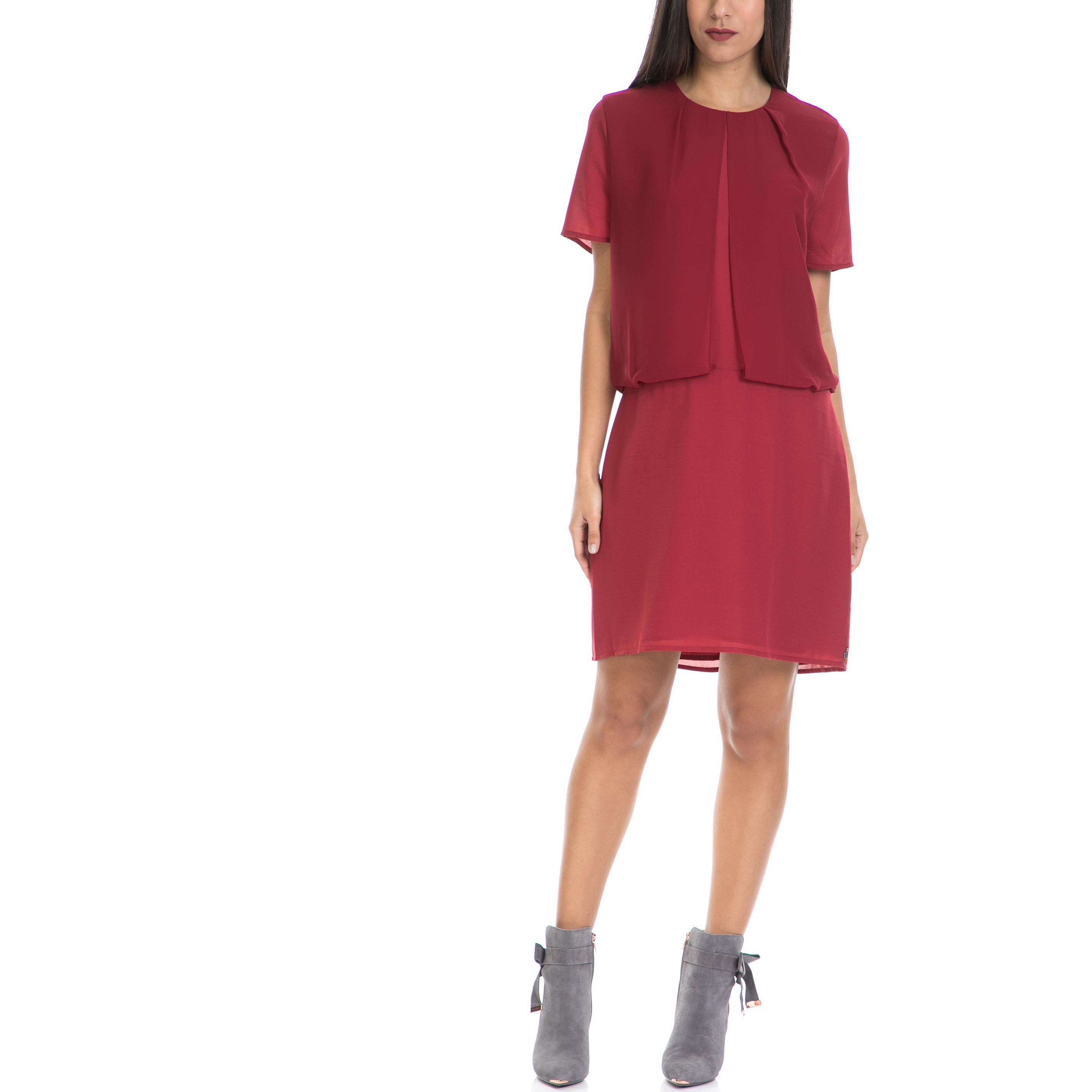 MAISON SCOTCH - Γυναικείο φόρεμα MAISON SCOTCH κόκκινο γυναικεία ρούχα φορέματα μίνι