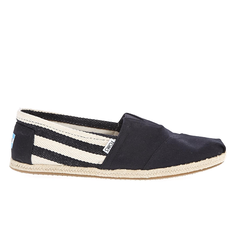 TOMS - Ανδρικές εσπαντρίγιες TOMS μαύρες-μπεζ ανδρικά παπούτσια εσπαντρίγιες