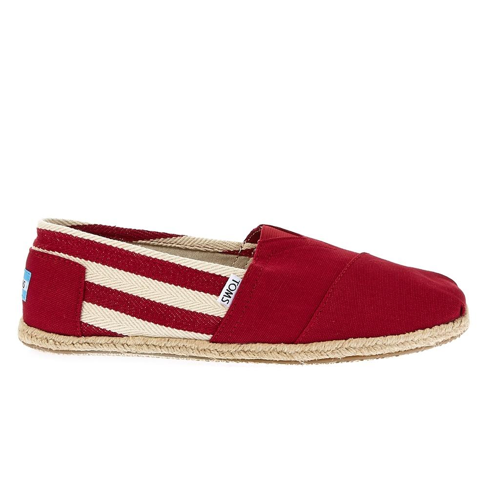 TOMS - Ανδρικές εσπαντρίγιες TOMS κόκκινες ανδρικά παπούτσια εσπαντρίγιες