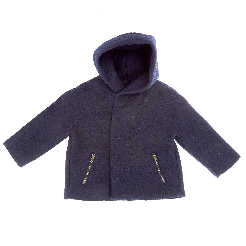 MONNALISA - Παιδικό παλτό Monnalisa μπλε σκούρο παιδικά boys ρούχα πανωφόρια