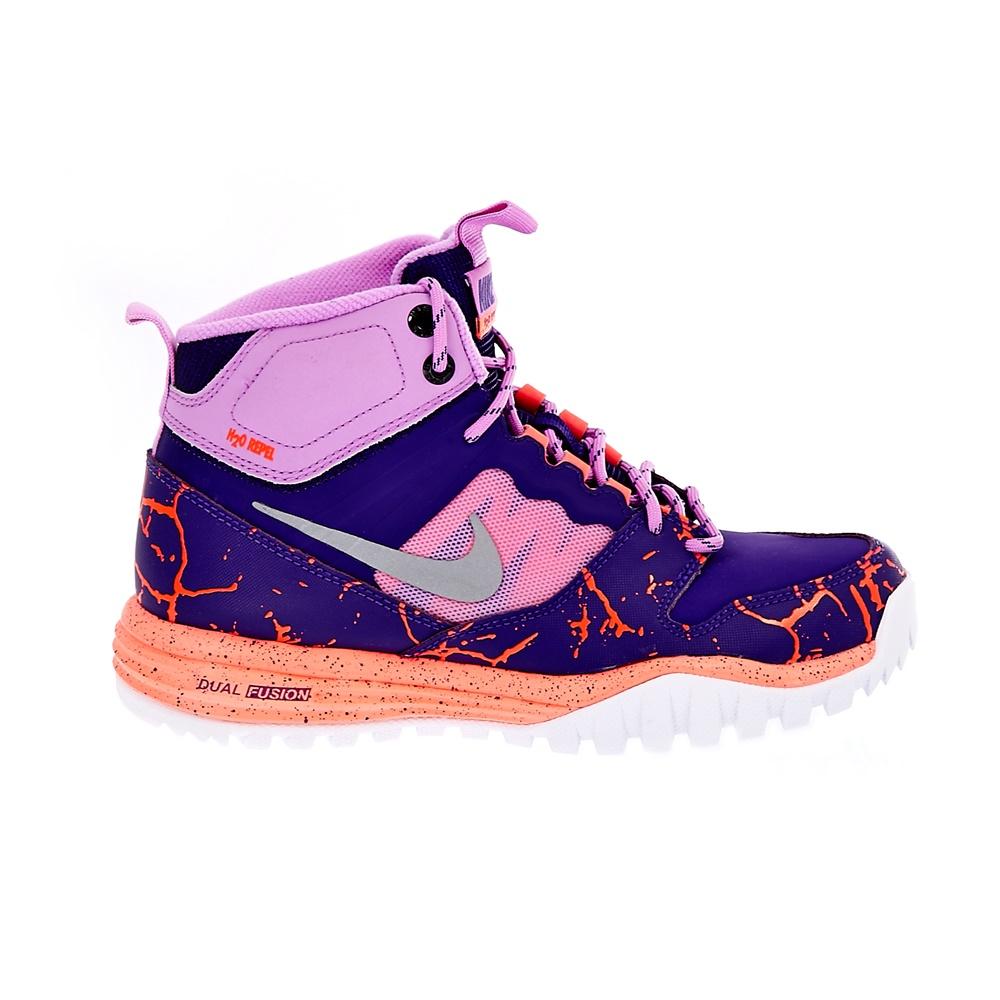 NIKE – Παιδικά αθλητικά παπούτσια NIKE DUAL FUSION HILLS MID LAVA μωβ