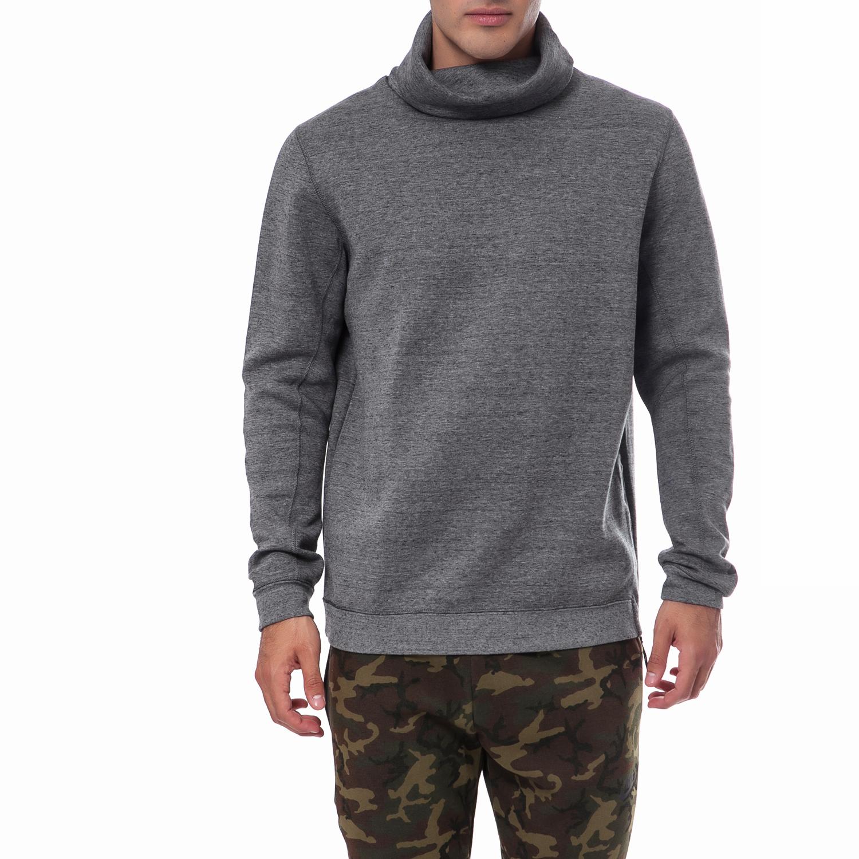 NIKE - Ανδρική μπλούζα Nike γκρι ανδρικά ρούχα αθλητικά φούτερ μακρυμάνικα
