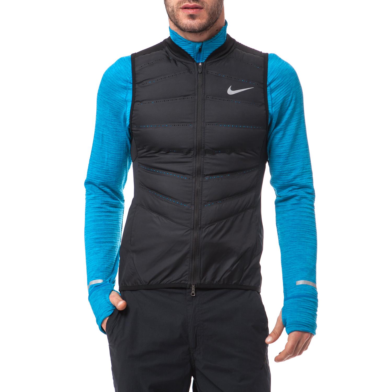 NIKE - Ανδρικό μπουφάν Nike μαύρο ανδρικά ρούχα πανωφόρια γιλέκα