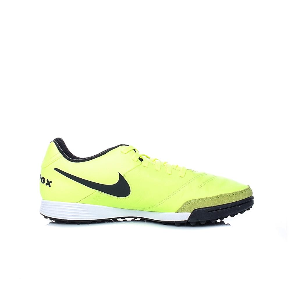 NIKE – Ανδρικά ποδοσφαιρικά παπούτσια ΝΙΚΕ TIEMPOX GENIO II LEATHER TF κίτρινα
