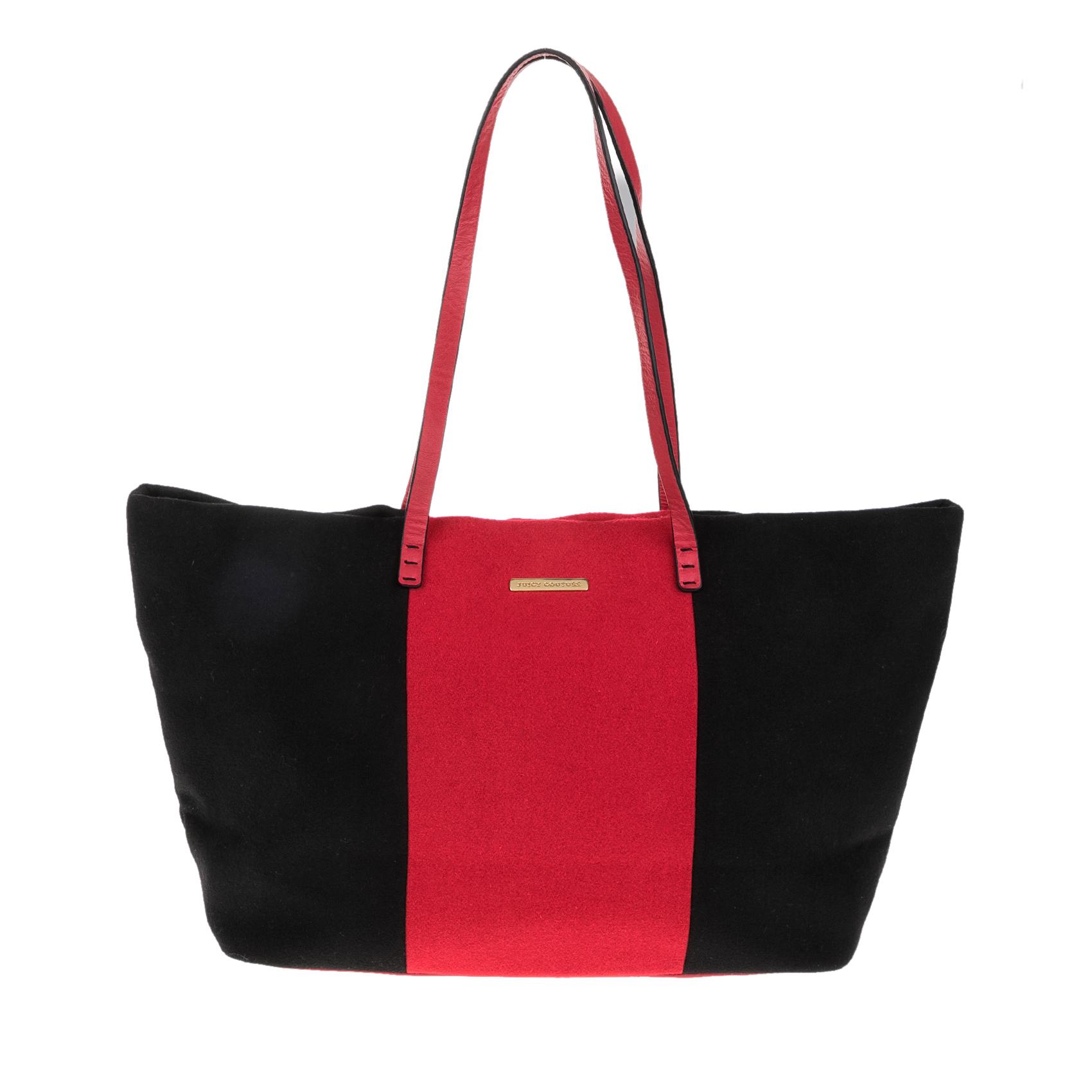 JUICY COUTURE – Γυναικεία τσάντα JUICY COUTURE EXCLUSIVE MONOGRAM μαύρη-κόκκινη 1427951.0-7145