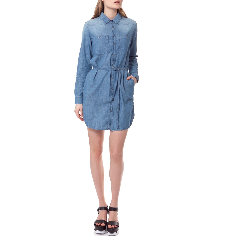 G-STAR - Φόρεμα G-STAR RAW τζιν γυναικεία ρούχα φορέματα μίνι