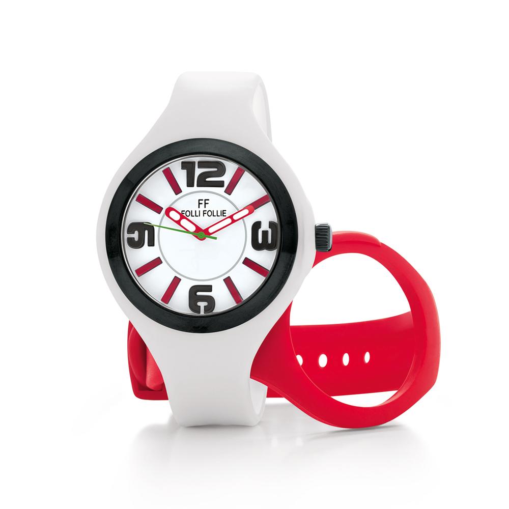 FOLLI FOLLIE – Γυναικείο ρολόι Folli Follie λευκό-κόκκινο
