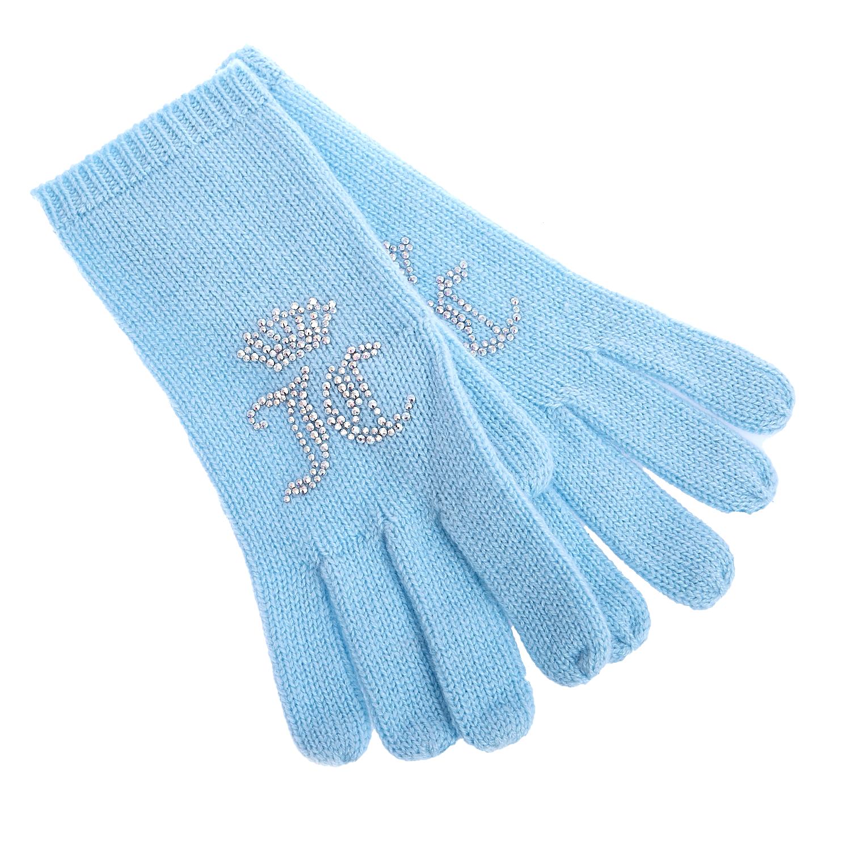JUICY COUTURE - Γάντια κασμίρ Juicy Couture σιέλ γυναικεία αξεσουάρ φουλάρια κασκόλ γάντια