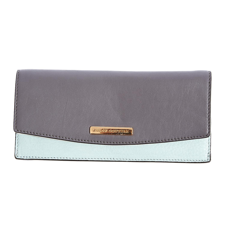 JUICY COUTURE – Γυναικείο πορτοφόλι Juicy Couture γκρι-γαλάζιο