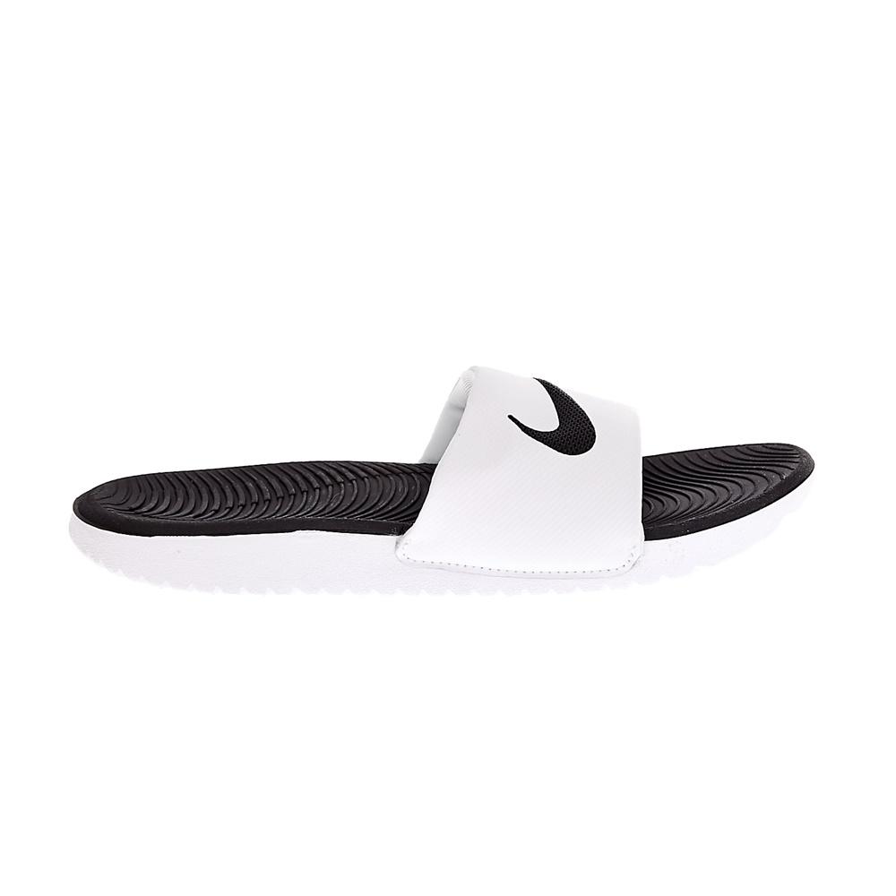 NIKE - Παιδικές παντόφλες NIKE KAWA SLIDE ασπρόμαυρα παιδικά boys παπούτσια σαγιονάρες