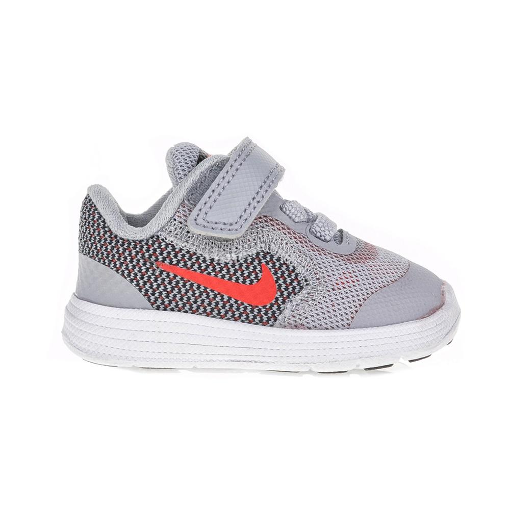 NIKE – Βρεφικά παπούτσια NIKE REVOLUTION 3 (TDV) γκρι