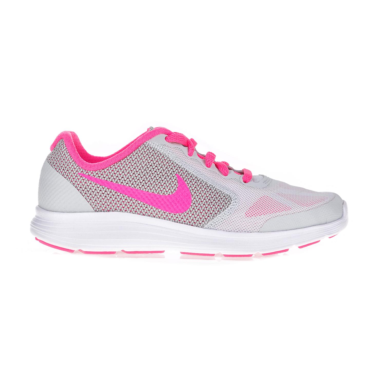 NIKE - Παιδικά παπούτσια NIKE REVOLUTION 3 (GS) λευκά - ροζ bb9cfd71b7b