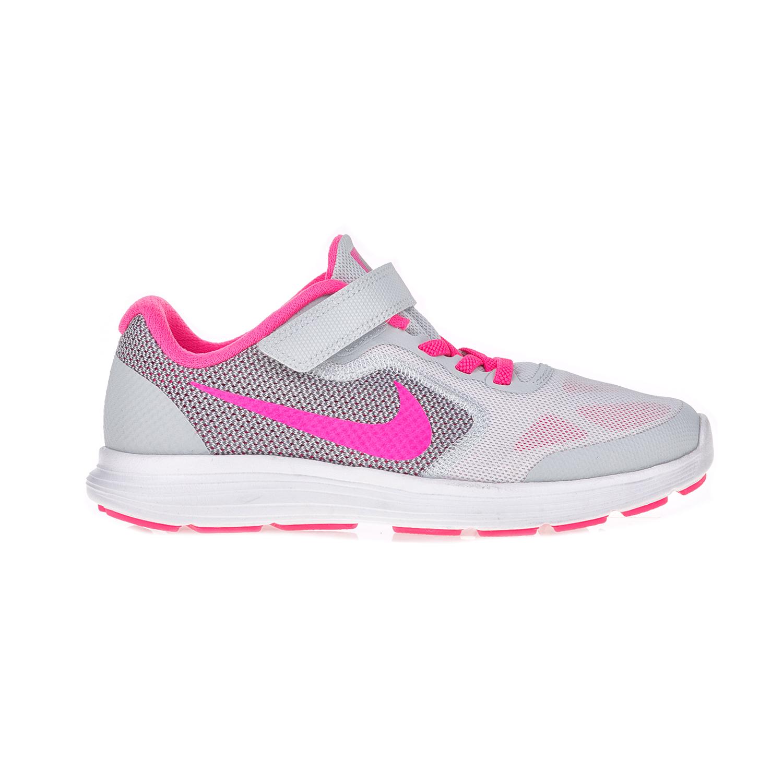 NIKE – Παιδικά αθλητικά παπούτσια NIKE REVOLUTION 3 (PSV) λευκά – ροζ