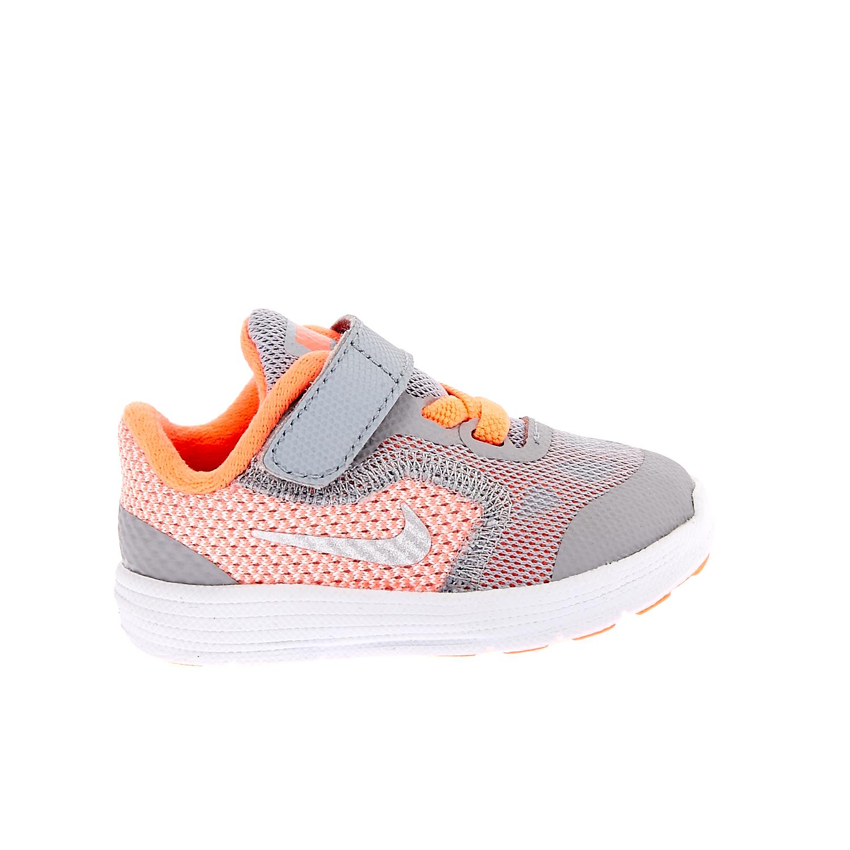 NIKE – Παιδικά αθλητικά παπούτσια NIKE REVOLUTION 3 γκρι