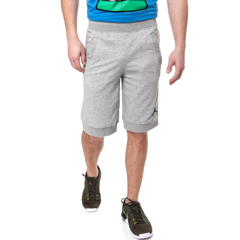 NIKE - Αντρικό σορτς NIKE JORDAN FLEECE γκρι ανδρικά ρούχα σορτς βερμούδες αθλητικά