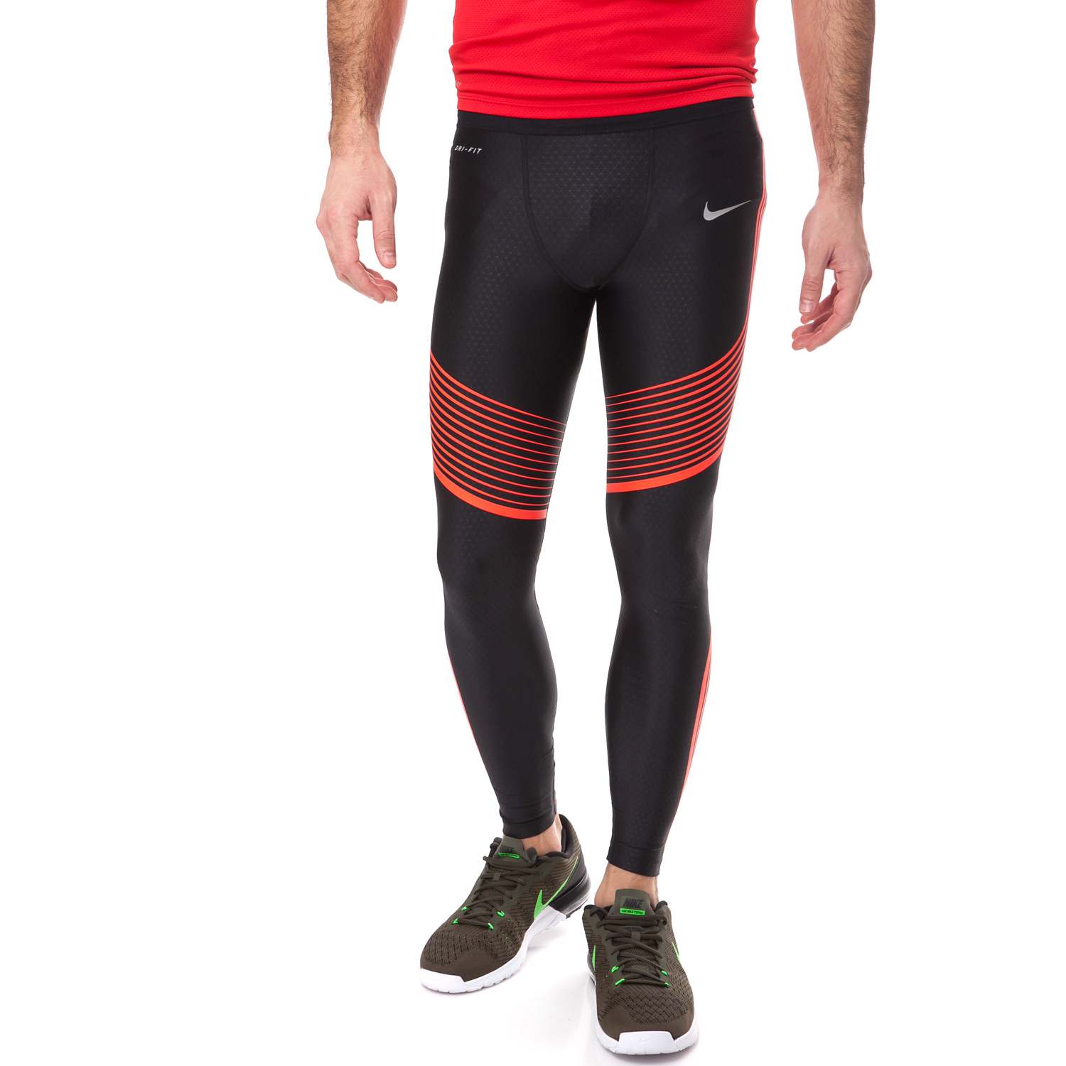 NIKE - Ανδρικό κολάν NIKE POWER SPEED TIGHT μαύρο ανδρικά ρούχα αθλητικά κολάν