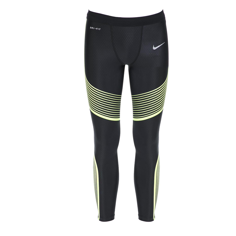NIKE - Ανδρικό αθλητικό κολάν NIKE POWER SPEED TIGHT μαύρο-πράσινο ανδρικά ρούχα αθλητικά κολάν