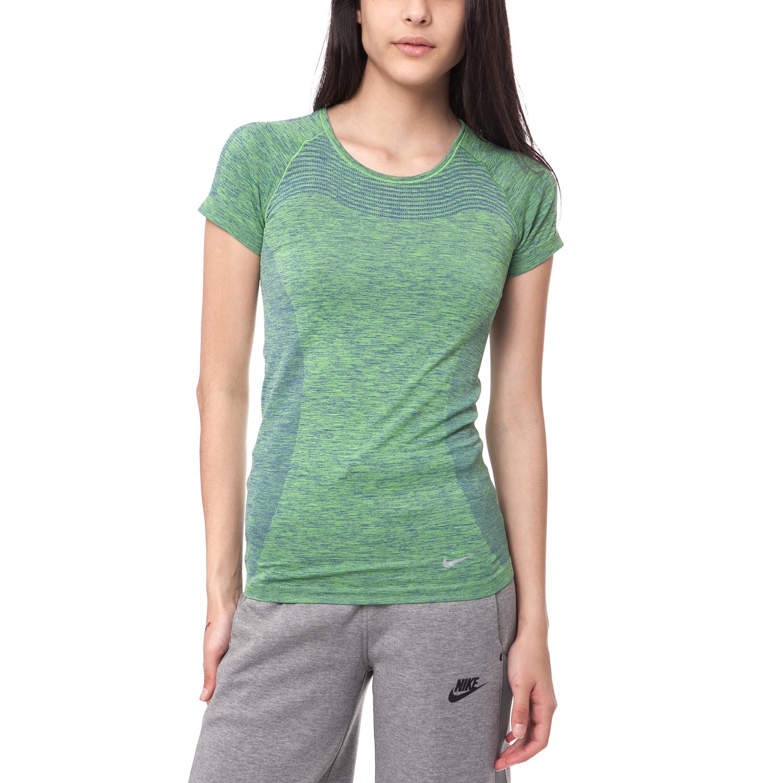 NIKE - Γυναικείο t-shirt Nike DRI-FIT KNIT SHORT SLEEVE πράσινο