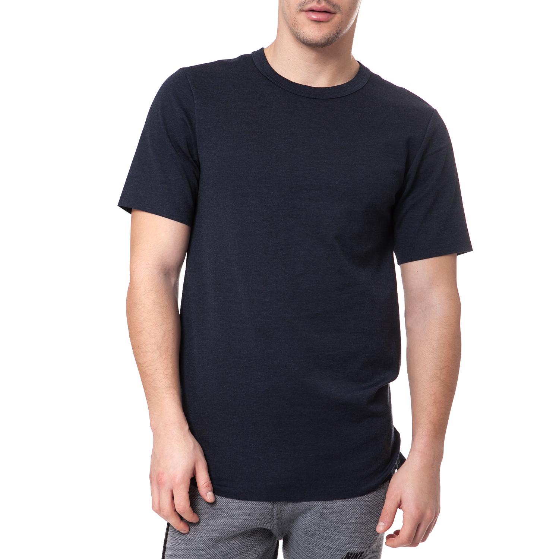 NIKE - Ανδρικό t-shirt Nike LUX EXTENDED TOP κοντομάνικο ανθρακί ανδρικά ρούχα αθλητικά t shirt