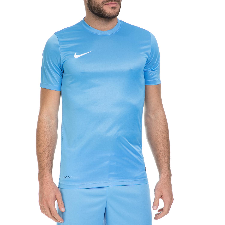 NIKE - Ανδρική μπλούζα ποδοσφαίρου ΝΙΚΕ PARK VI JSY μπλε ανδρικά ρούχα αθλητικά t shirt