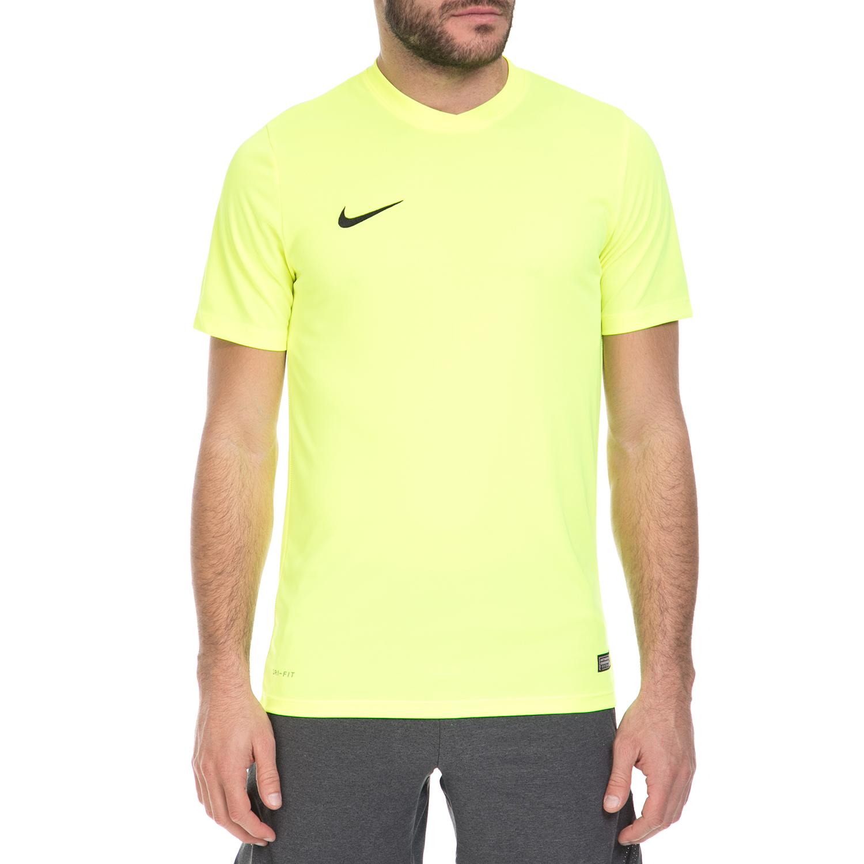 NIKE - Ανδρική αθλητική μπλούζα ΝΙΚΕ PARK VI JSY κίτρινη ανδρικά ρούχα αθλητικά t shirt
