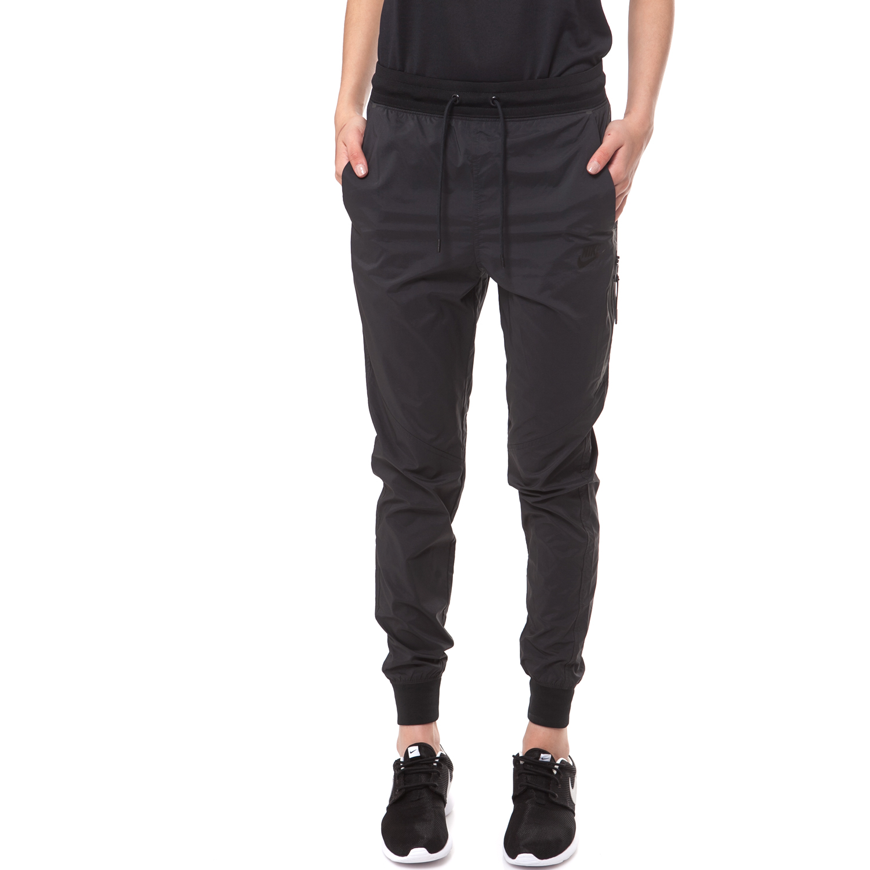 NIKE - Γυναικείο παντελόνι φόρμας NIKE BONDED WOVEN PANT μαύρο γυναικεία ρούχα αθλητικά φόρμες