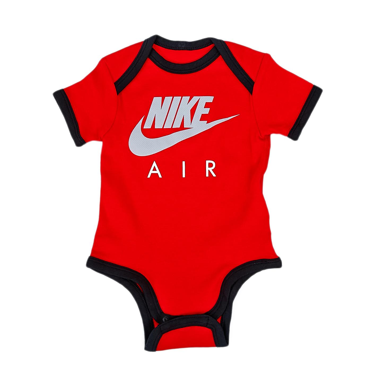 NIKE - Βρεφικό φορμάκι Nike κόκκινο παιδικά baby ρούχα φορμάκια κορμάκια