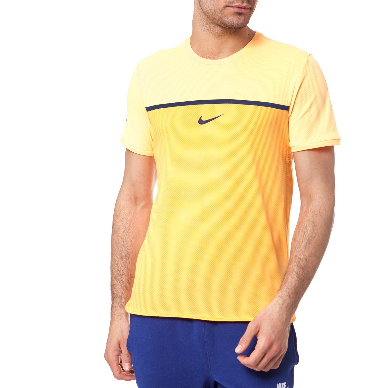 NIKE - Ανδρική μπλούζα NIKE πορτοκαλί ανδρικά ρούχα αθλητικά t shirt