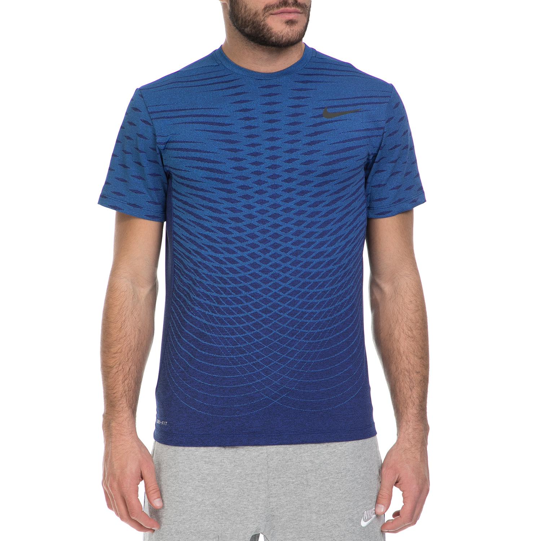 NIKE - Ανδρική αθλητική μπλούζα ΝΙΚΕ ULTIMATE DRY TOP μπλε ανδρικά ρούχα αθλητικά t shirt