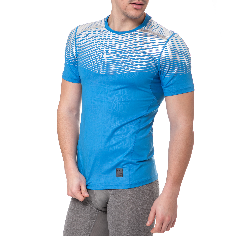 NIKE - Ανδρικό αθλητικό t-shirt Nike HYPERCOOL MAX ανοιχτό μπλε ανδρικά ρούχα αθλητικά t shirt