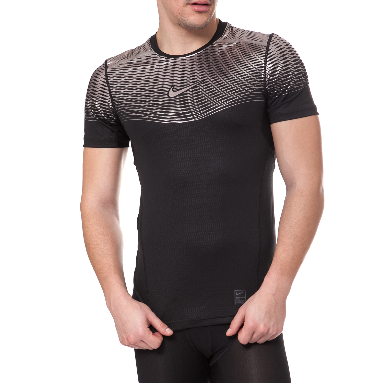 NIKE - Ανδρικό αθλητικό t-shirt Nike HYPERCOOL MAX μαύρο ανδρικά ρούχα αθλητικά t shirt