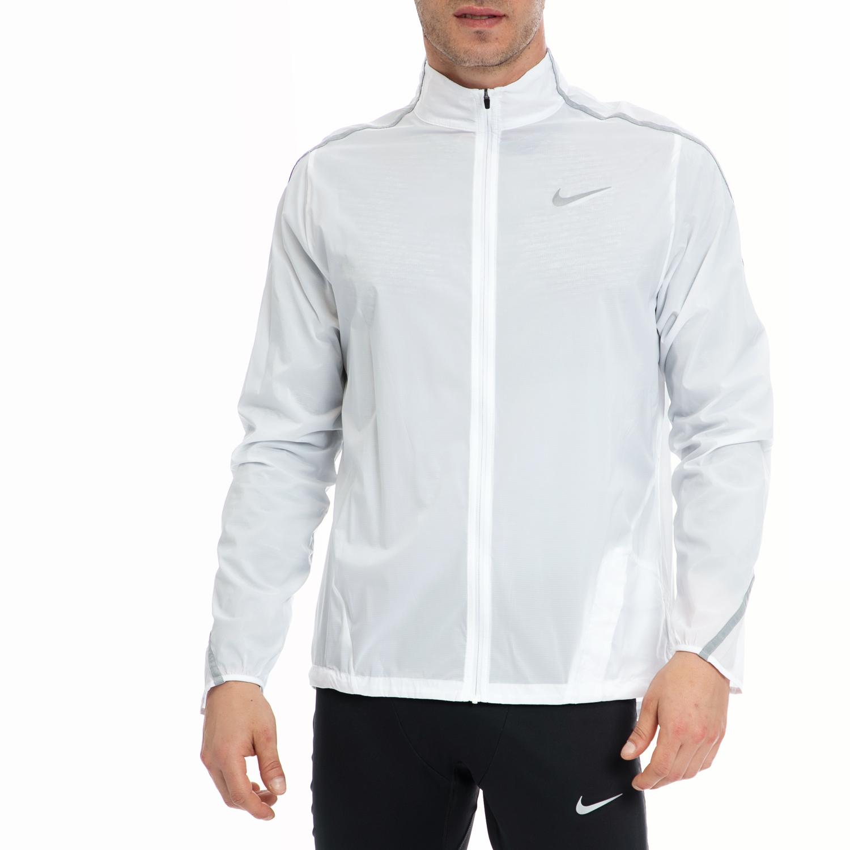 NIKE - Αντρική ζακέτα NIKE άσπρη ανδρικά ρούχα αθλητικά φούτερ μακρυμάνικα
