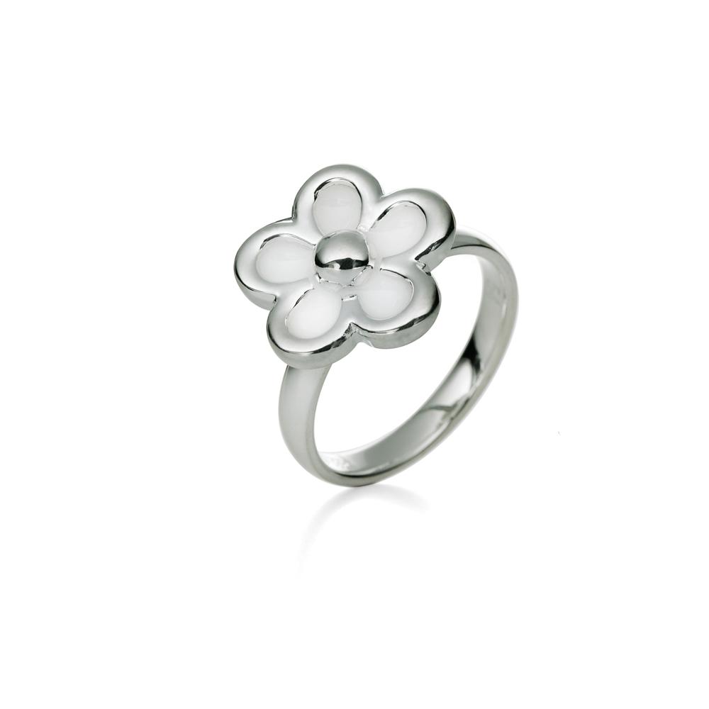 FOLLI FOLLIE - Επάργυρο δαχτυλίδι Folli Follie με λουλούδι 53d577bc6f8