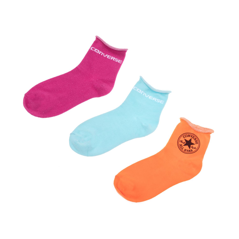 CONVERSE – Γυναικείο σετ κάλτσες CONVERSE ροζ-μπλε-πορτοκαλί