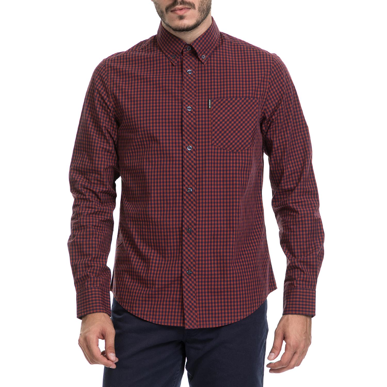 BEN SHERMAN – Ανδρικό πουκάμισο BEN SHERMAN κόκκινο-μπλε